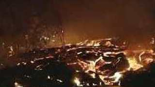 Footage Captures Lava Flow Engulfing Two Homes in Leilani Estates
