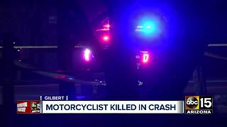 Motorcyclist killed after colliding with car in Gilbert - Video