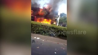 Gas explosion kills at least two, injures dozens - Video