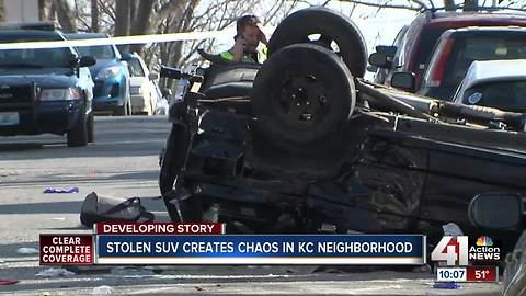 Stolen SUV causes series of crashes in Hyde Park