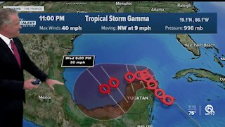 Tropical Storm Gamma forms
