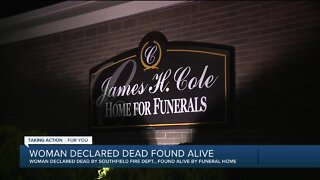 Woman declared dead found alive in funeral home