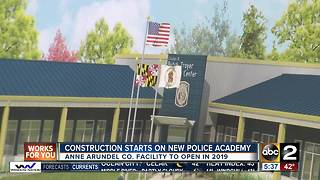 Groundbreaking ceremony for new police training academy in Anne Arundel County - Video
