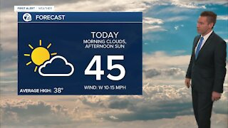 Metro Detroit Forecast: Warming back into the 40s