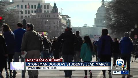 Marjory Stoneman Douglas High School students march in Washington D.C.