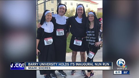 Barry University holds inaugural nun run