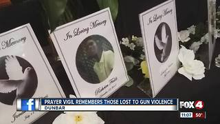 Prayer vigil to remember 40 lives lost in Lee County this year - Video