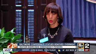 Mayor removes four confederate statues using emergency powers - Video