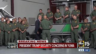 CNN: President Trump's Yuma visit altered due to security concerns - Video