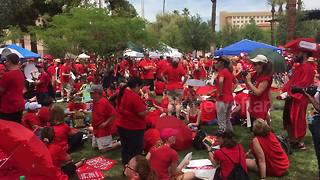 Seeing red: Arizona teachers walk out in historic statewide strike - Video