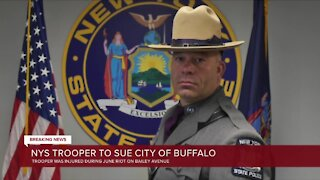New York State trooper injured in riots takes legal action against City of Buffalo