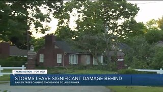 Storms leave behind significant damage
