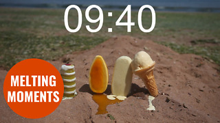 Timelapse video shows melting times of four different ice-creams in the sun - Video