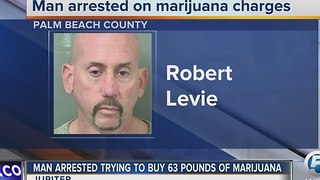 Man arrested trying to buy 63 pounds of marijuana - Video