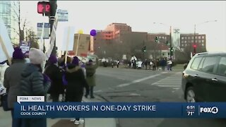 Healthcare workers strike in Chicago
