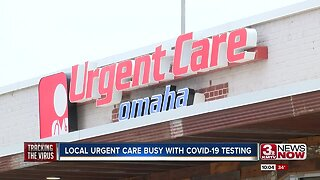Local urgent care busy with COVID-19 testing