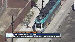 Riders react after first month of Detroit's QLINE - Video