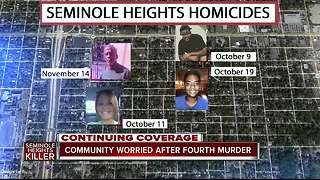 Seminole Heights on edge after fourth homicide, police and FBI search for killer - Video