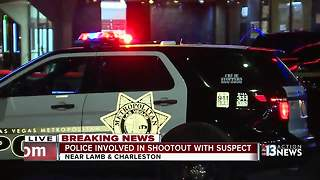 Las Vegas police involved in shootout with suspect