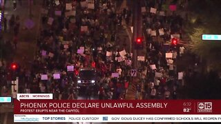 Protesters crowd downtown Phoenix streets