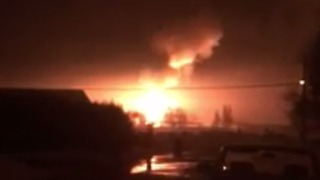 Substation Blast Lights Up Ephrata Evening Sky - Video