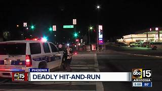 Police searching for driver in deadly pedestrian crash