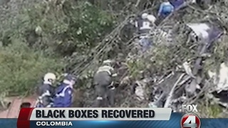 Colombia officials recover black boxes after plane crash