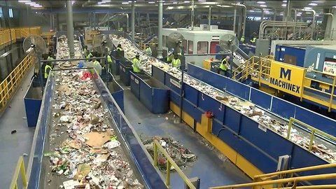 Recycling workers stuck by used needles