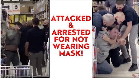 Canadian Tire Employees Arrest Man For Not Wearing Mask In Store!