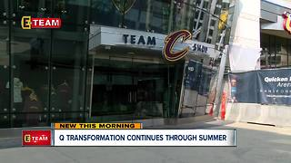Construction continues at Quicken Loans Arena during summer shutdown
