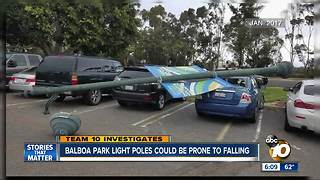 Balboa Park light poles could be prone to falling - Video
