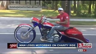 Police report stolen motorcycle after charity event
