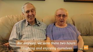 Elderly couple meets online, gets married on their birthday | Hot Topics - Video
