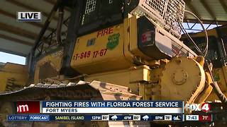 Fighting fires with the Florida Forest Service - 7:30am live report - Video