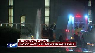 Massive water main break causes problems in Niagara Falls - Video