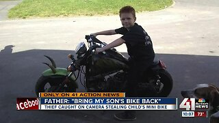 Surveillance video captures thieves stealing Northland child's mini motorcycle