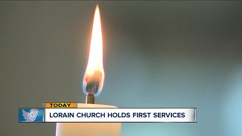 First Lutheran Church in Lorain holds first services since its old building burned down