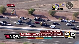NOW: 3 people hospitalized after Loop 101/McDowell motorcycle crash - Video