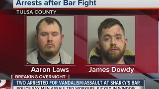 Two arrested after Brookside bar fight - Video