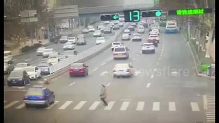 Video captures terrifying moment of car striking woman - Video