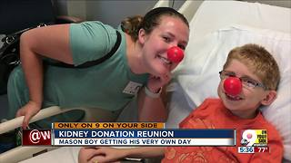 College student donates kidney to Mason boy - Video