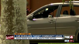 Car burglars steal handgun, cash and cameras from Fort Myers golf community - Video
