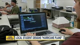 College student designs weather-resistant 'hurricane plane' that can land on debris-filled water