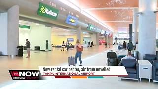 New rental car center, 'SkyConnect' air tram unveiled at Tampa International Airport - Video