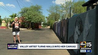 Valley artist turns alley walls into her canvas