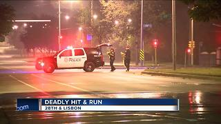 Police tracking driver of deadly hit-and-run - Video