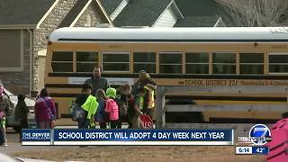 School District 27J moving to four-day school week in the fall - Video