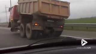 Trucking with one front wheel - Video