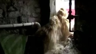 Floodwater Rushes Into Ellicott City Restaurant