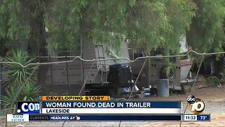 Woman found dead in Lakeside trailer